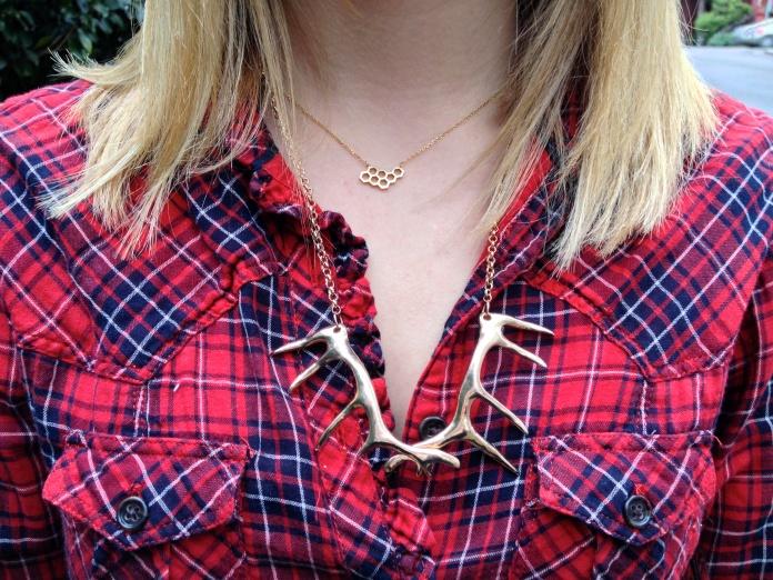 Honeycomb Necklace LOFT 82   ALPINE Necklace OLIVE + PIPER