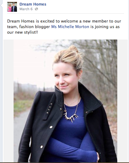 Dream Homes' Facebook Page Announcement