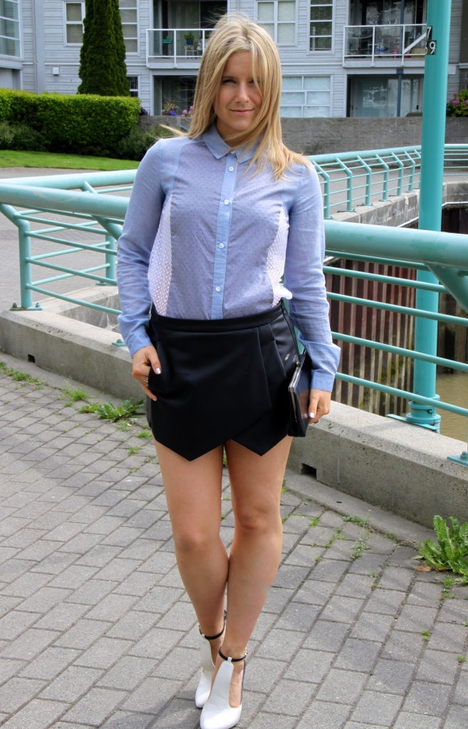 TOP FCUK French Connection of the UK | SKORT Zara Leather