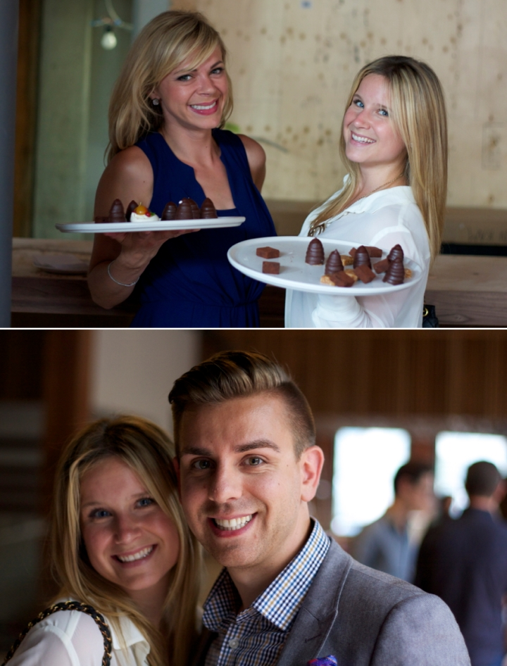 "TOP | Bianca Solterbeck & I ""serving"" desserts.  Obviously! 