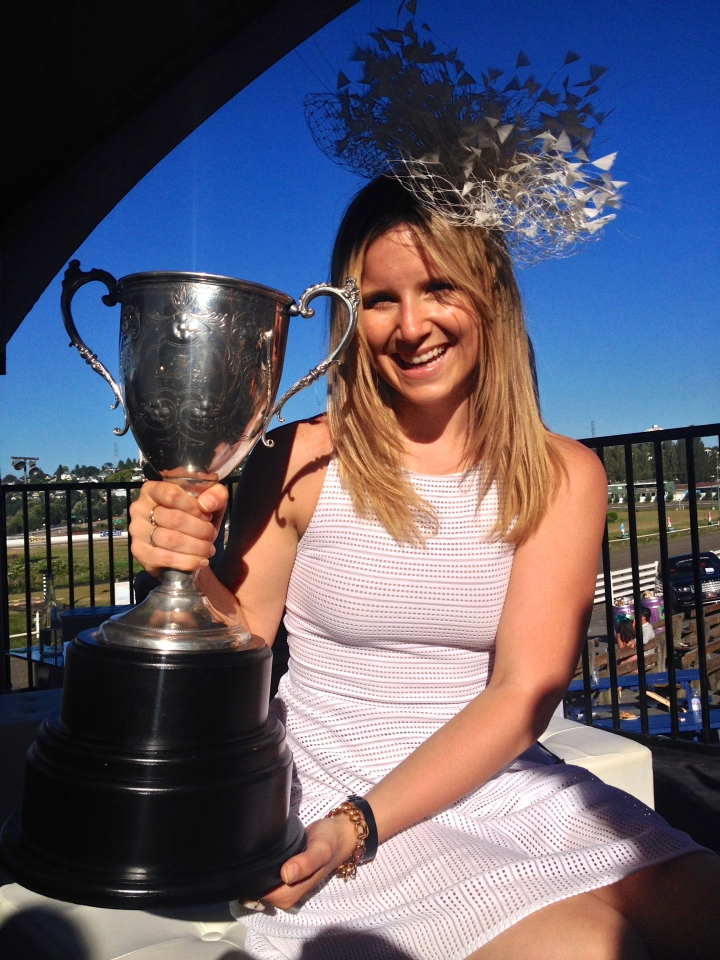 With THE Deighton Cup- heavier than it looks! | Photo by Peter Verge