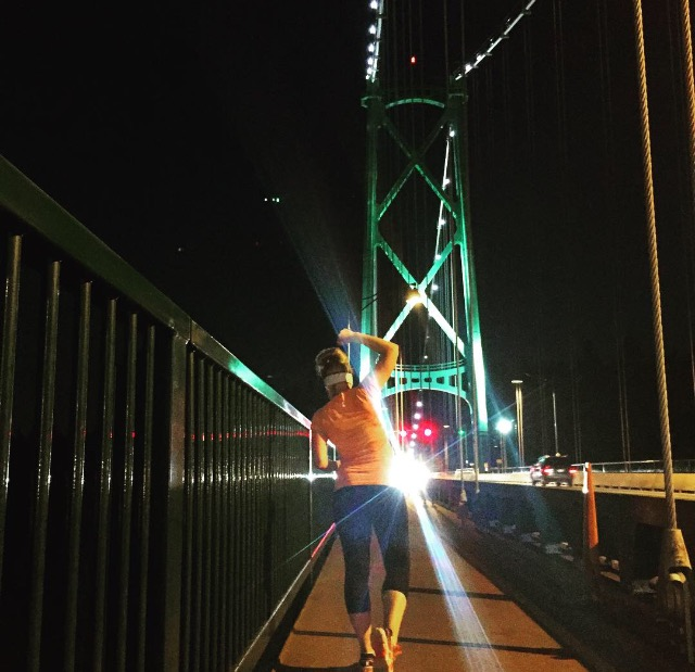 One of my happy places - running the Lions Gate Bridge