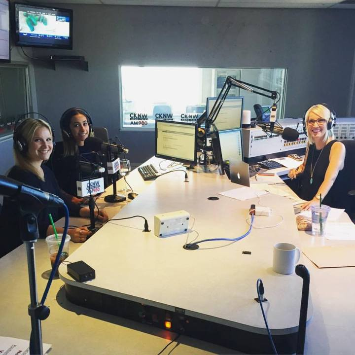Myself, Randa and Lynda talking Tinder at CKNW! Photo Credit Chad Varhaug